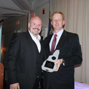 Receiving the Chef of the Year Award for New Hampshire