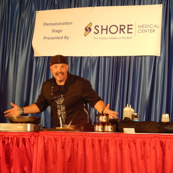 Luca on stage at the AC Food and Wine Festival