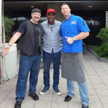 Luca with Marcus Samuelsson and Kevin